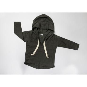 Linen brown hoodie