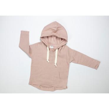 Linen light pink hoodie