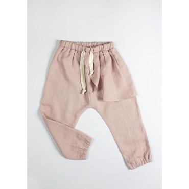 Linen joggers light pink