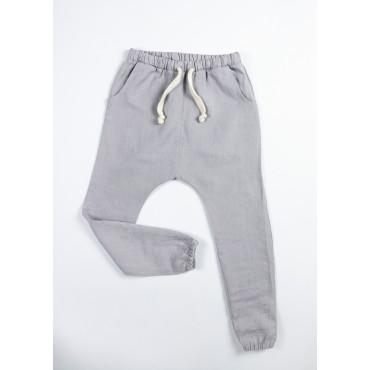 Linen joggers grey