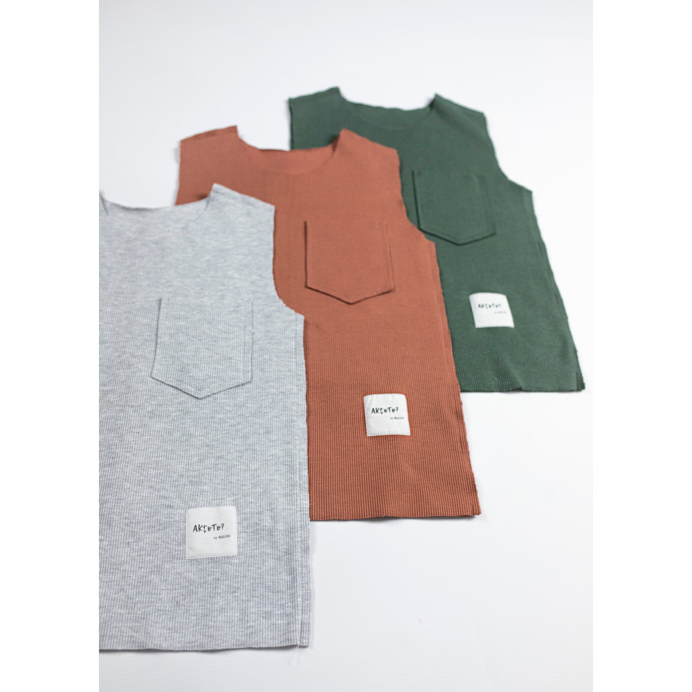 Light grey cotton top