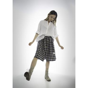 Linen skirt plaid