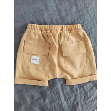 Linen shorts ochre