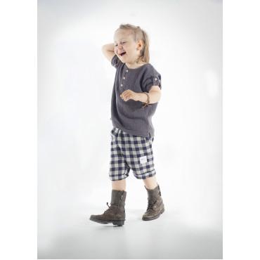 Linen plaid shorts