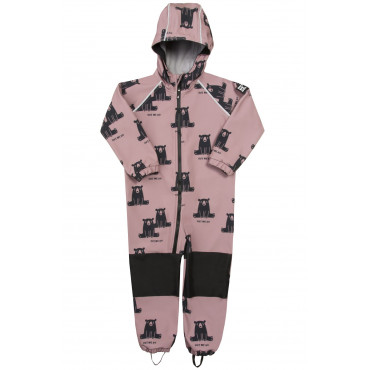 Black bear on dusty pink - Overall