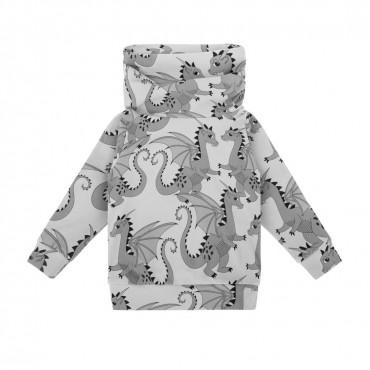 Dragon Grey Snood Sweatshirt