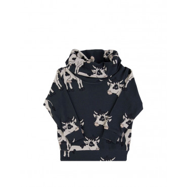 Cow Dark Tube Sweatshirt