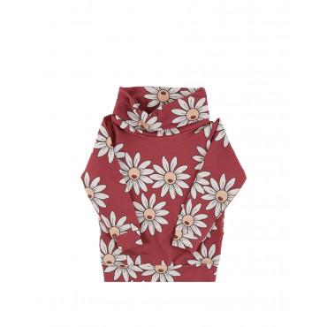 Red Daisy Tube Sweatshirt
