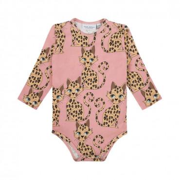 Gepard Pink Long Sleeve Bodysuit