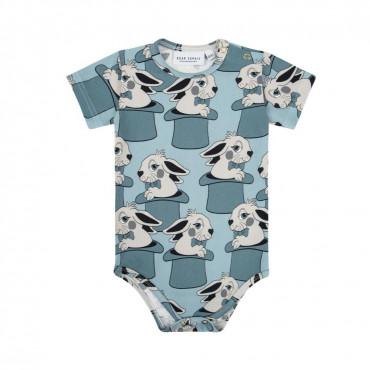 Rabbit Blue Short Sleeve Bodysuit