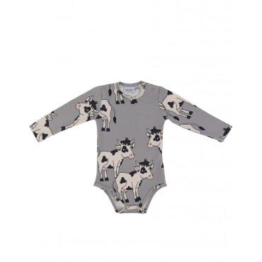 Cow Grey bodysuit