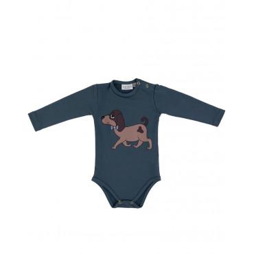 Doggie bodysuit blue