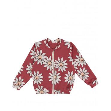 Red Daisy Bomber Jacket