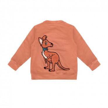 Kangaroo Red Brick Bomber Jacket
