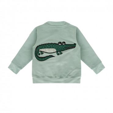 Crocodile Mint Bomber Jacket