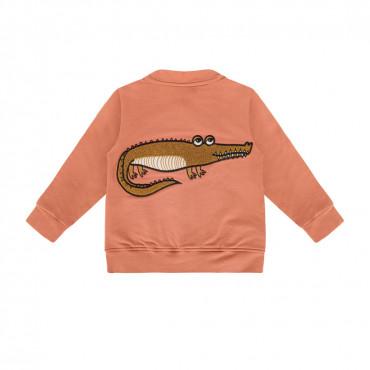 Crocodile Red Brick Bomber Jacket