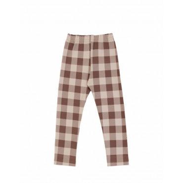 Beige Checker leggings