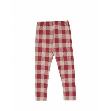 Maroon Checker leggings