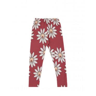 Red Daisy leggings