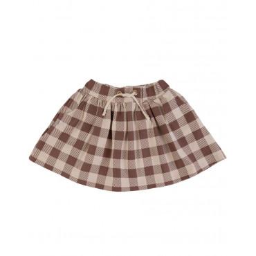Beige Checker Skirt