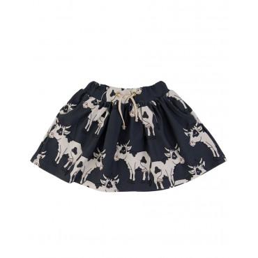 Cow Dark Skirt