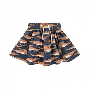 Crocodile Navy Skirt