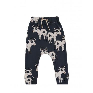 Cow Dark Pants