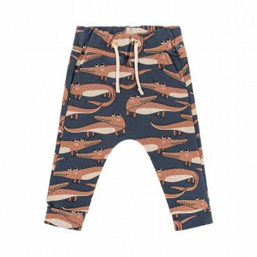 Crocodile Navy Pants