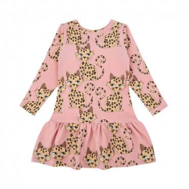 Gepard Pink Longsleeve Dress
