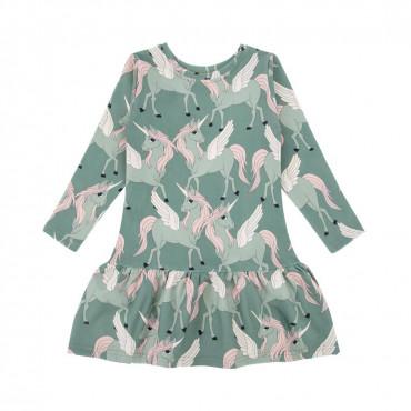Pegasus Green Longsleeve Dress