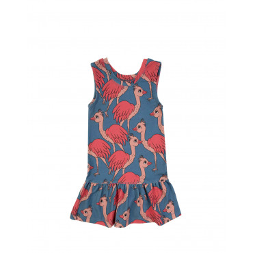 LADY OSTRICH BLUE DRESS