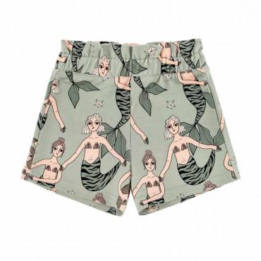 Mermaid Mint Paperbag Shorts