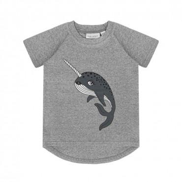 Narwhal Grey Melange T-shirt