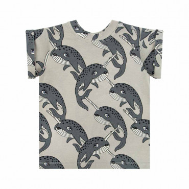 Narwhal Grey T-shirt