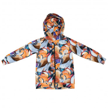 Mandarin Feathers Hoodie with zip