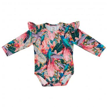 Colibri Bodysuit with frills long