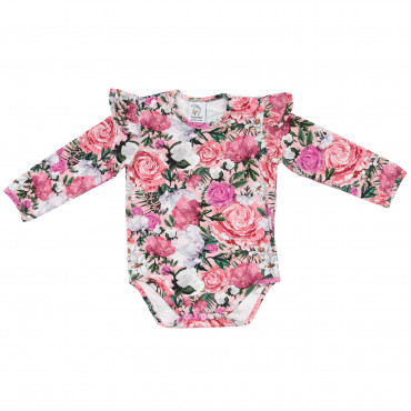 Beauty Bodysuit with frills long