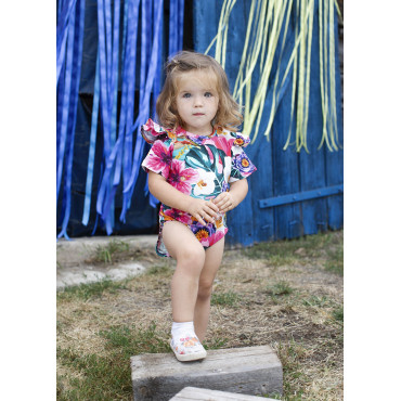 Hawaii Bodysuit with frills short