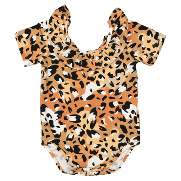 Spots Bodysuit with frill at the neck