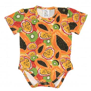 Papaya Bodysuit Short