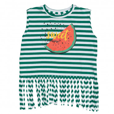 Lambada Shirt Green Stripes Watermelon