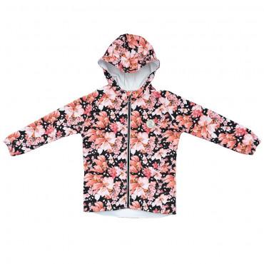 Romantic Garden Black Softshell jacket