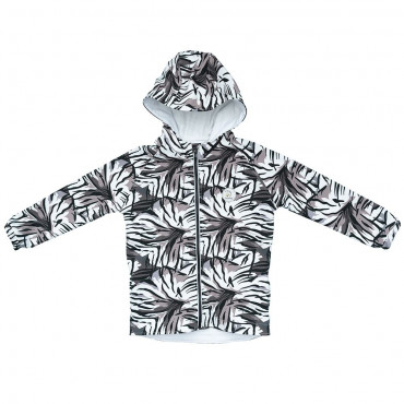 Tiger Fur Monochrome Softshell jacket
