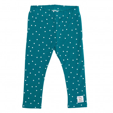 LEGGINGS GREEN DOTS