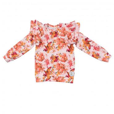 Longsleeve Ann Shirley Romantic Garden White
