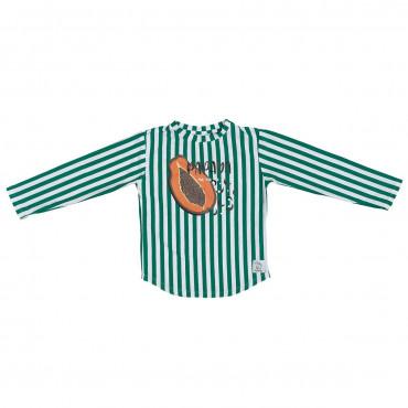 Green Stripes Papaya Longsleeve