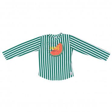 Green Stripes Watermelon Longsleeve