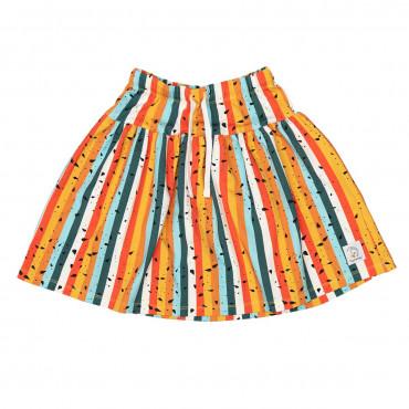 Multicolour Stripes Skirt