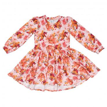 Romantic Garden White Twirl Dress