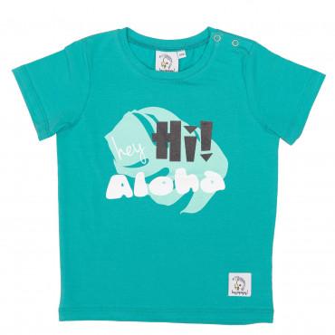 T-shirt HEY HI GREEN
